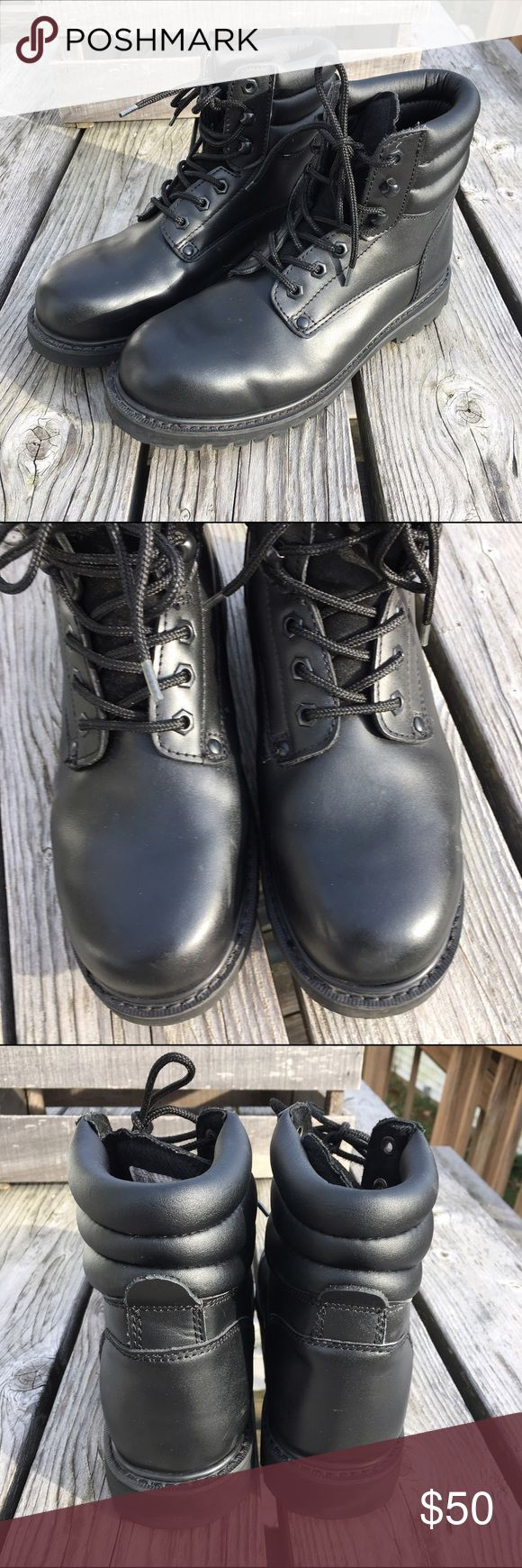 🆕List! Sears Work Boots! Perfect Condition!! Black work boots from Sears! Practically perfect! NOT steal toe. Size 10 men's. Sears Shoes Boots