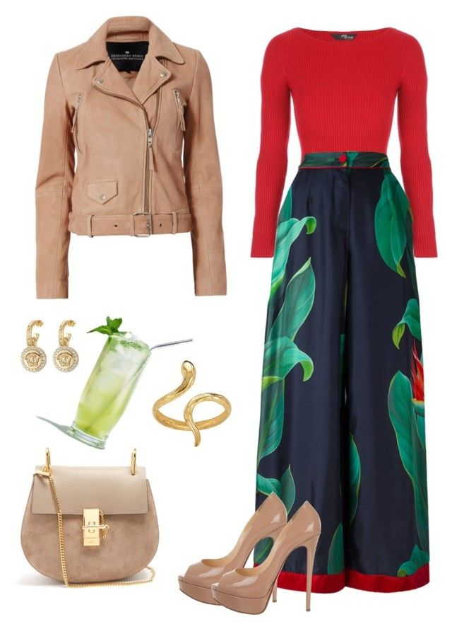 """#cocktail-party"" by loredana-tonno on Polyvore featuring moda, F.R.S For Restless Sleepers, Christian Louboutin, Chloé, Madina Visconti di Modrone, Versace e Designers Remix"