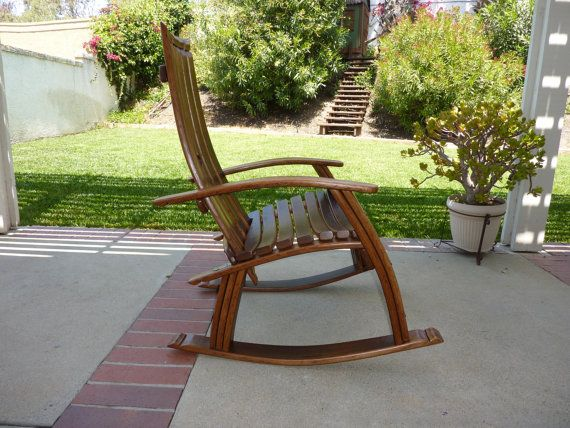 wine barrel rocking chair whiskey barrel furniture barrel chair wine ...