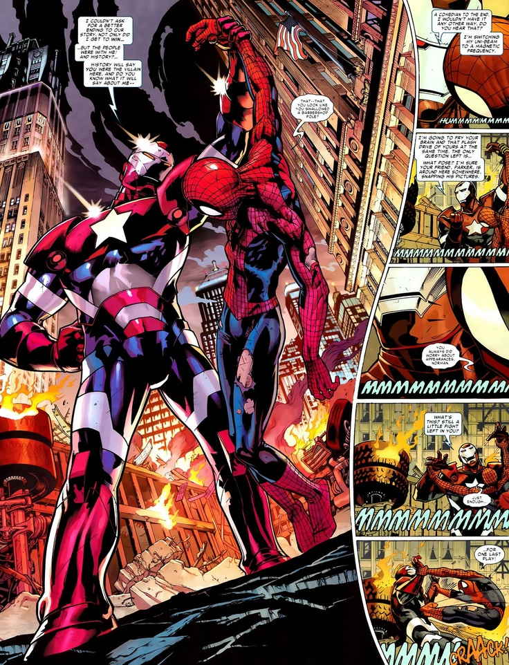 "Spider-Man vs. Iron Patriot ~ ""You look like you swallowed ..."