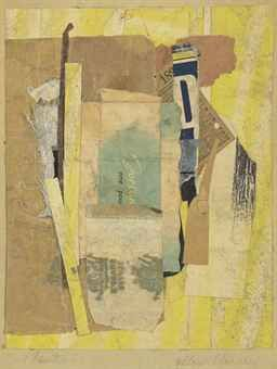 "Yellow-Blue-Red, kurt schwitters, 1940-1944                8-1/4""x    6-3/4"""