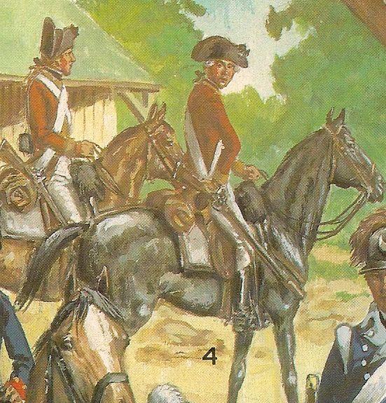 Nº 4.- 2º Regimiento de caballeria ligera de Connectica. LA CABALLERIA DE LA REVOLUCIÓN AMERICANA, por Liliane y Fred FUNCKEN, = Biblioteca militar de Barcelona,
