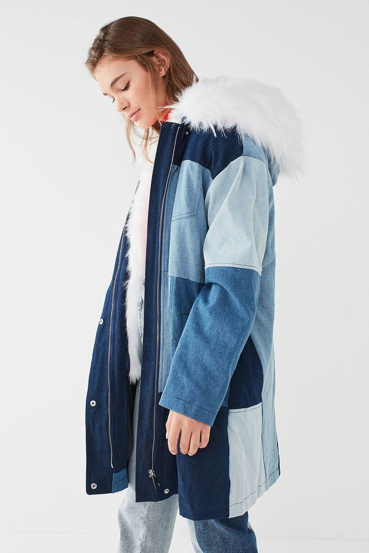 Shop UO Faux-Fur Patchwork Denim Parka Jacket at Urban Outfitters today. We carry all the latest styles, colors and brands for you to choose from right here.
