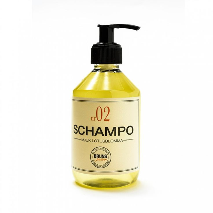 Bruns Schampo nr. 02 - mjuk lotusblomma -För dig med normalt tilltjockt hår som gärna vill ha tyngd. Detta är ett handgjort schampo somger volym och stadga som har en förförisk doft av v�...