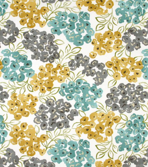 Turquoise, Grey Flat Curtain, Yellow Gold Valance or Table Runner for the Kitchen, Teal Valance, or Table Decoration or Grey Window Treatment.  46 x 16 Café or Flat Style Curtain 2 Rod Pocket Available.