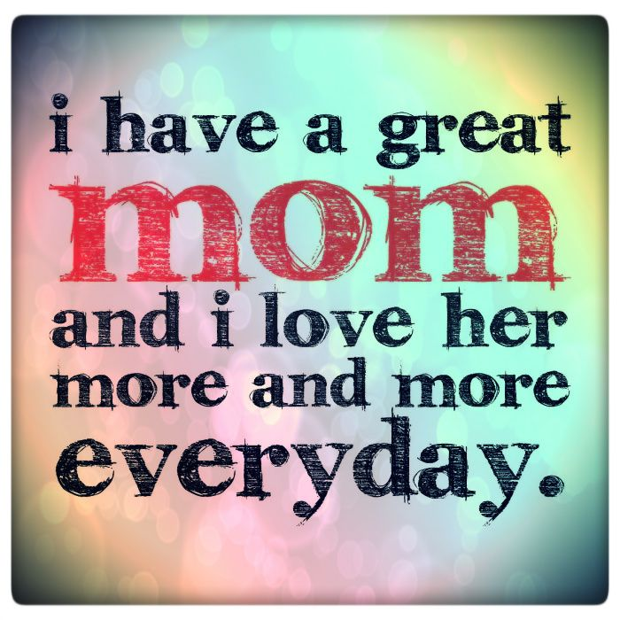 I #love my #mom : )
