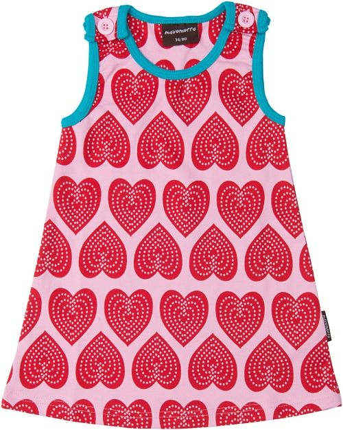 MAXOMORRA - Vestido de niña modelo Pinafore hearts www.bebenomada.com
