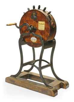 A LATE-VICTORIAN/EDWARDIAN KNIFE GRINDER ON STAND  FIRST QUARTER 20TH CENTURY, BY GEORGE KENT