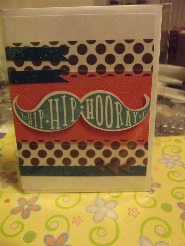 Male birthday card made using Close to my Heart stamp, ink and card.