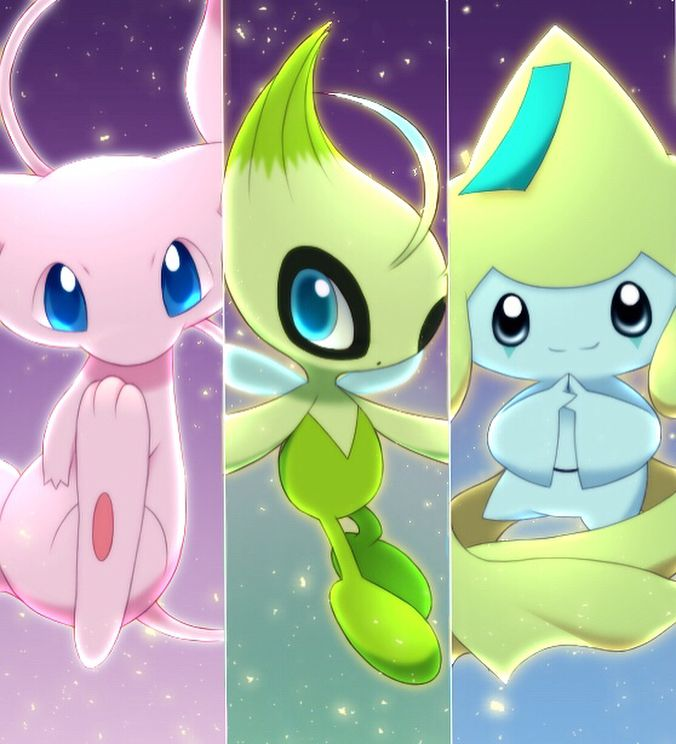 #mew #celebi #jirachi (With images) | Pokemon mew, Pokemon ...