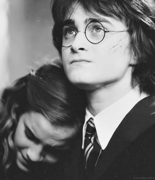 Hermione and Harry...just friends. << Till shippers ruined it alllll.