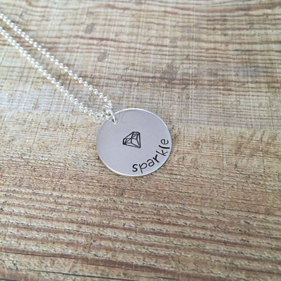 Sparkle like a Diamond Sterling Silver Neclace by TwistedJewelleryCreations
