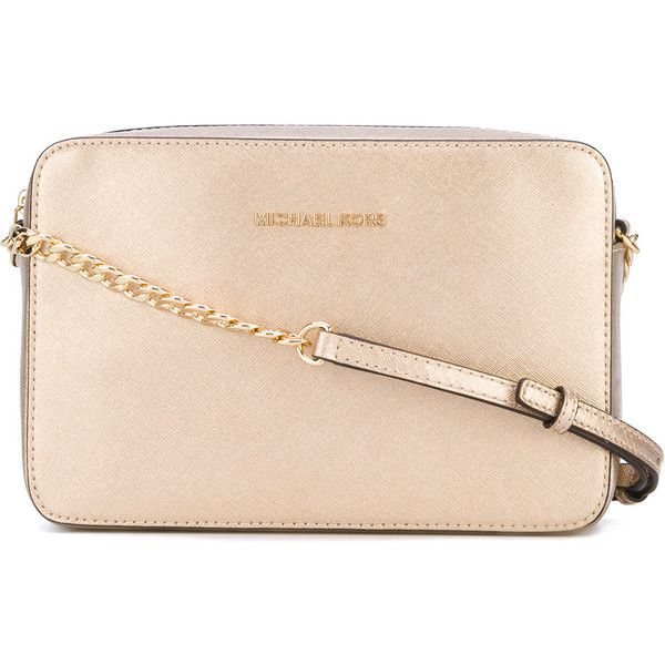 Michael Kors Jet Set crossbody bag ($180) ❤ liked on Polyvore featuring bags, handbags, shoulder bags, purses, grey, leather crossbody handbags, handbags crossbody, leather shoulder bag, leather crossbody purse and purses crossbody