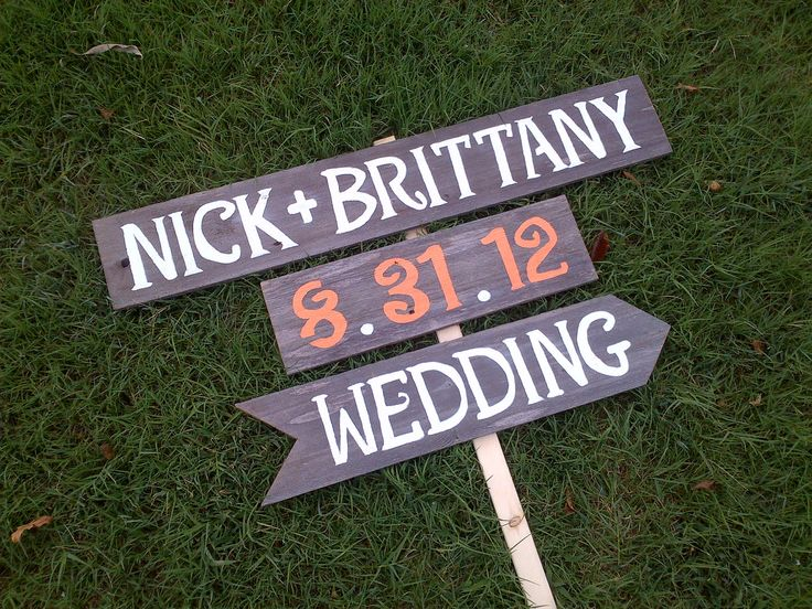 Names Date Wedding Sign Reception Signs. Parking Signs. Restrooms Sign. Cocktails sign Outdoor Wedding Decorations Fall Orange Wedding