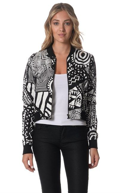Shop Womens Tribal Cotton Silk Bomber by The People Vs. now at Ozsale. Price was $89.95 and is now $35.00.