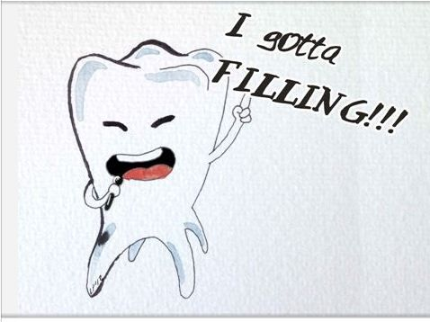 I gotta filling... wooo-hooo! Giving our patietns something to smile about! #BrightsideDentalCare  #DentalHumour