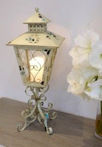 Shabby Chic Cream Candle Table Lantern - Candle Holders - Candelabra and Candle Holders - Living & Interiors - Home & Interiors - Catalogue  | Black Country Metal Works