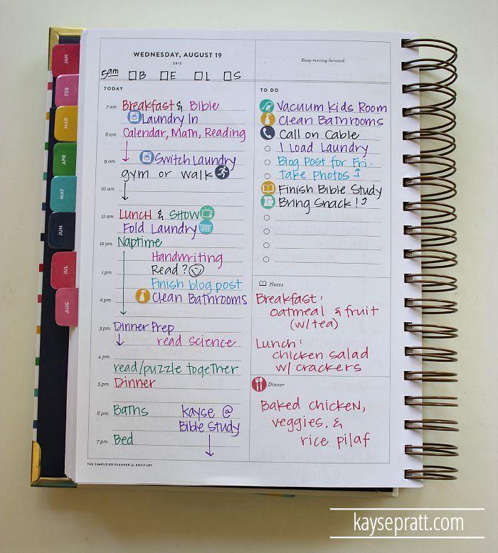 How I Use My Simplified Planner - http://KaysePratt.com 2