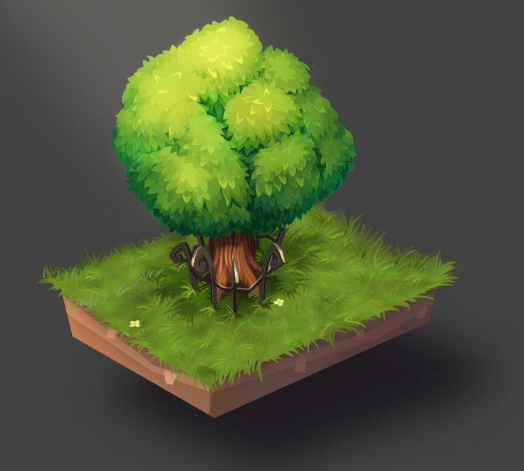 tree, Artyom Ilichev on ArtStation at https://artstation.com/artwork/tree-0b0a193e-8f4f-469f-bee4-6ea3eddc6f94