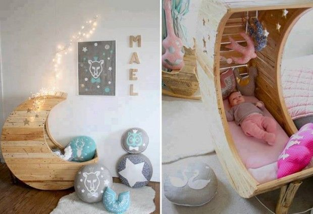 How sweet is this?! Baby bed, nursery room 101 Useful DIY Project For Your Home – Part 1 | InspireLifeTime