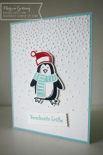 Stampin' Up, Es schneit, Snow friends, Weihnachtskarte