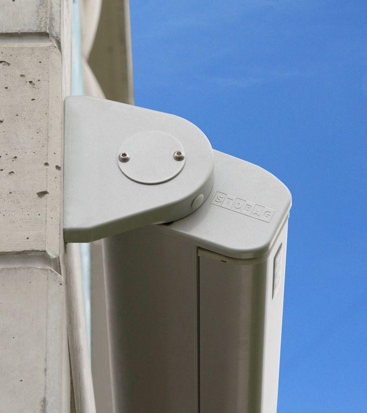 Purabox: o box de alumínio comporta todos os componentes do toldo em seu interior, oferecendo uma excelente proteção para o tecido e os braços articulados