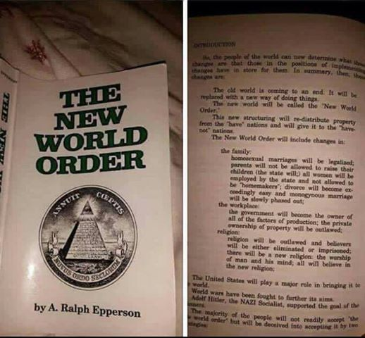 This book was written in 1989 read the middle passage!!! Continual conspiracies. Free [PDF] download the full book (191) pages in 15 sec. or less. Click on the link. the new world order - Campbell M Gold www.campbellmgold.com/archive_esoteric/new_world_order.pdf NEW. WORLD. ORDER by. A. Ralph Epperson.