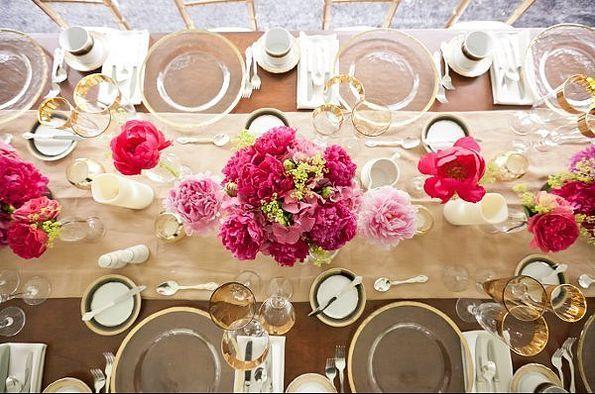 Rustikale Hochzeit Tischdekoration Ideen 2014 2015 Hot Pink Tischblume Dekoartikel Rustikale Hochzeit Tischdekoration Ideen 2014 2015