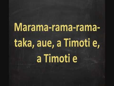 Maori Calendar Song - Maramataka Lyrics On Screen - YouTube