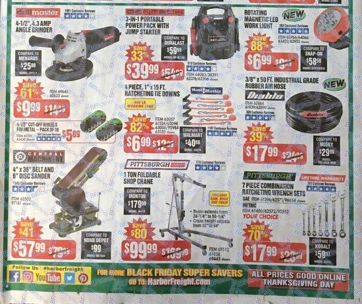 Harbor Freight Black Friday 2017 Ads and Deals Harbor Frieght offers affordable tools of all kinds, including power tools, air tools and hand tools. During Harbor Freight Black Friday 2017 Sale, sh... #harborfreight #harborfreighttools #harborfreightblackfriday #harborfreightblackfriday2017 #blackfriday #blackfriday2017