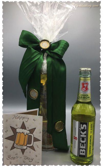 Bier Kaltstellen ist auch irgendwie Kochen!!! Geschenk zum 40 Geburtstag  Schwierigkeit: Normal Dauer: 7Std Happy Beer-Day Material: Götterspeise gelb Gelatine Wasserkocher Messbecher Topf Bi…
