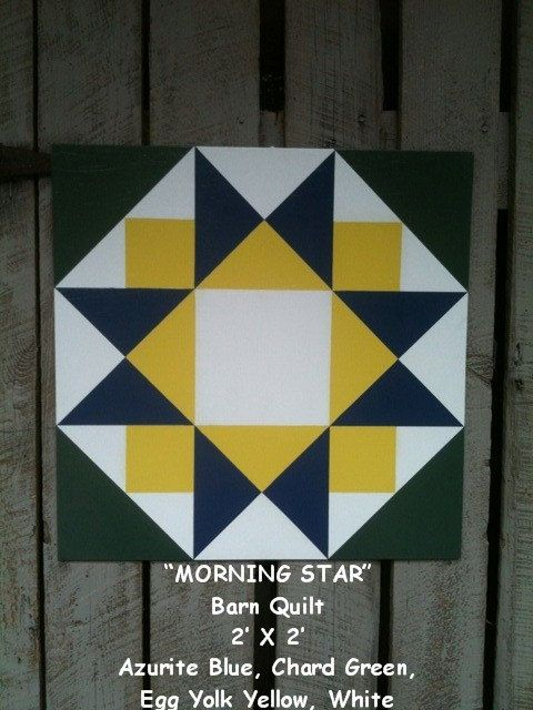 Barn Quilt Morning Star Pattern by Ties2ThePast on Etsy