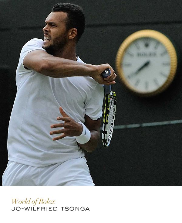 Jo-Wilfried Tsonga #Wimbledon #Tennis #RolexOfficial