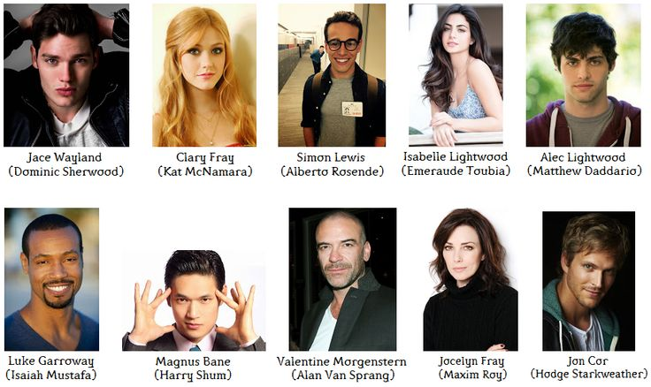 shadowhunters tv show cast - Google Search