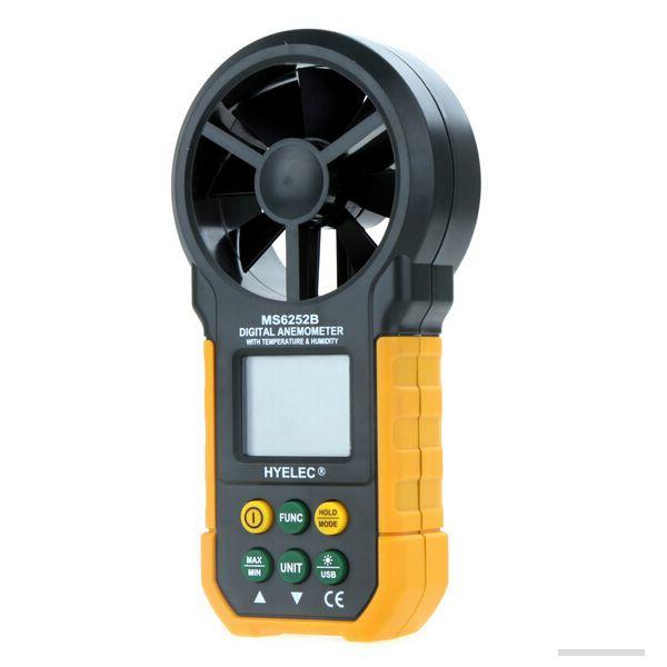 HYELEC PEAKMETER MS6252B Wind Speed Test Meter MULTI Digitale Anemometer Toerenteller Thermometer