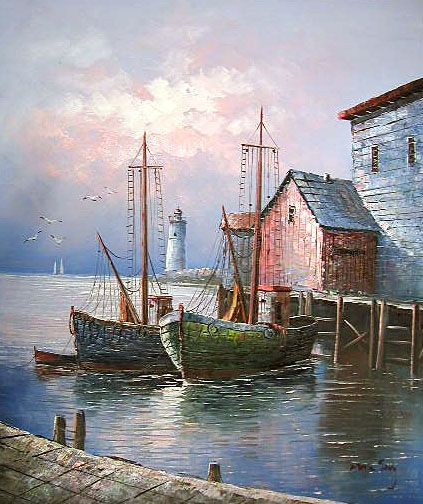 LARGE OIL PAINTING BY MAX SAVY 23″ x 27″ (IMAGE IS 20X24 AND WILL FIT ANY READY … – Mary Mckee