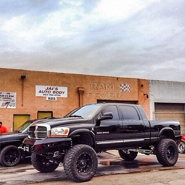 Black Dodge Cummins Mega Cab