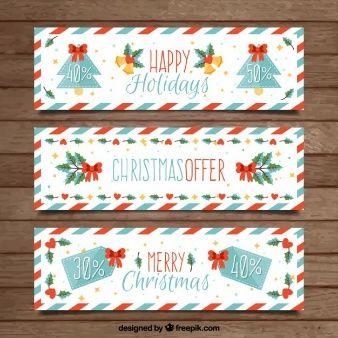 Полосатый рождественские баннеры