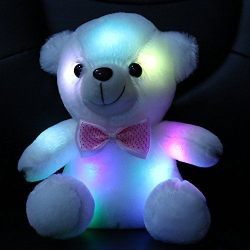 Toys For Girls LED Stuffed Bear Kids Night Light Lamp Year Old Christmas Gift #WEWILL
