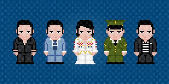 Elvis Presley Cross Stitch PDF Pattern by pixelpowerdesign on Etsy, $5.00