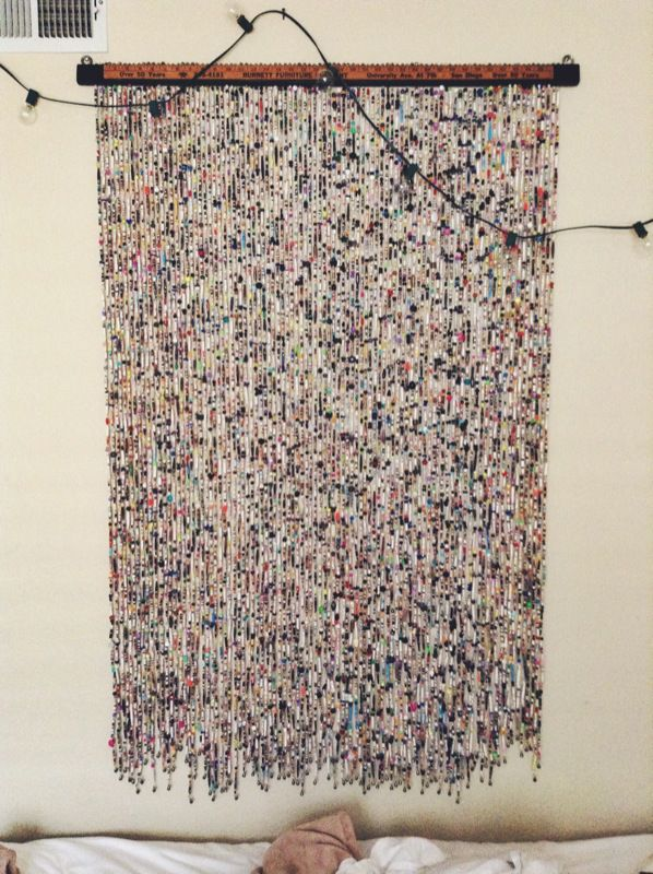 Diy Magazine Bead Curtain Art Piece With Images