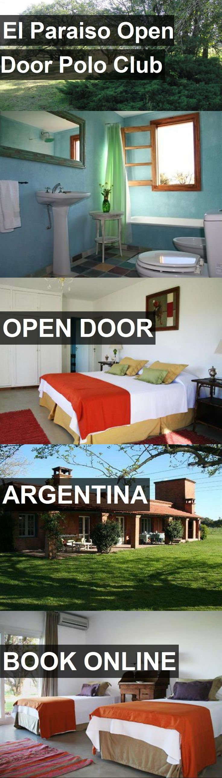 Hotel El Paraiso Open Door Polo Club in Open Door, Argentina. For more information, photos, reviews and best prices please follow the link. #Argentina #OpenDoor #travel #vacation #hotel