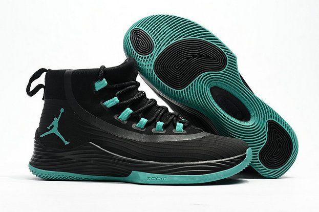 Authentic Air Jordan Ultra Fly 2 Black Clear Jade