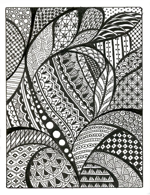 patterns draw cool simple drawing zentangle designs drawings paper easy doodle pattern zentangles things sketches background imgarcade similar drawn paintingvalley