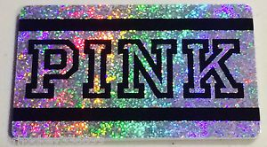 """Victoria's Secret Canada """"PINK"""" BLACK & SILVER Collectible Gift Card French/Eng"""