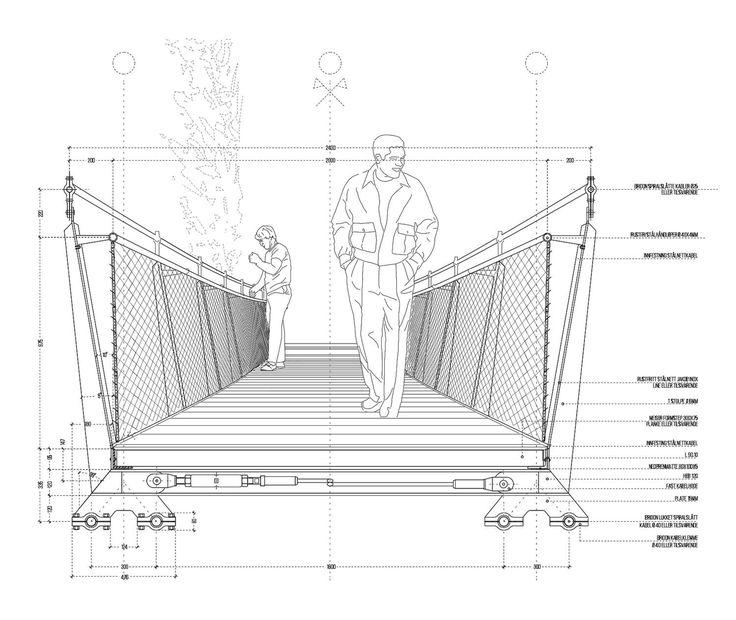 Footbridge Plans: Bridge Design, Pedestrian
