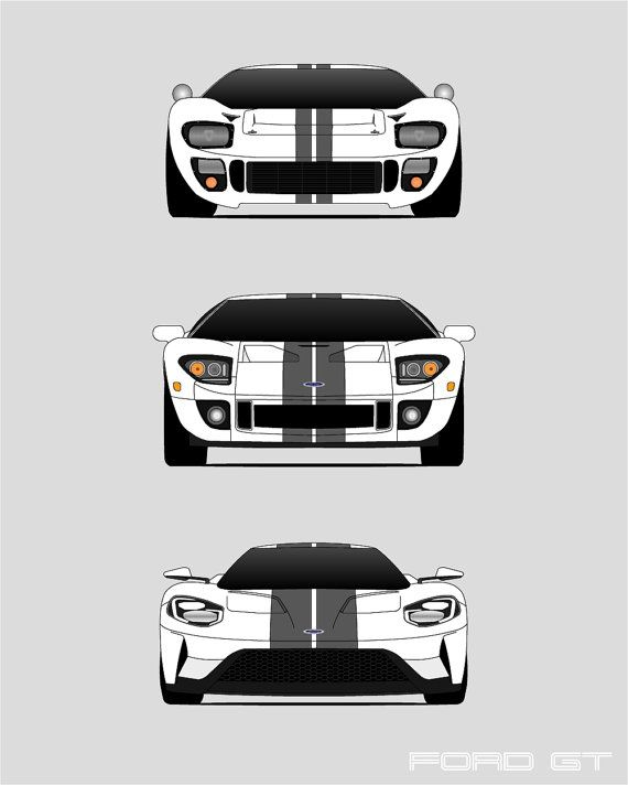 Ford Gt Generations Poster Ford Gt History Poster Ford Gt Evolution Ford Gt Print Ford Gt Art Ford Print Ford Poster A Custom Car Posters