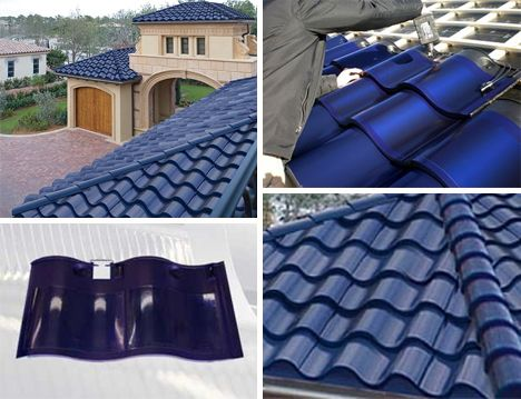 solar panels made into roof shingles by Dow Solar