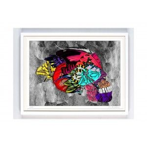 Skull Art by Kristjana S Williams - available to buy online from Everything Begins.    Roses are dead broken skull print by magnus gjoen - available to buy online from Everything Begins    Skull Art Print - available to buy online at Everything Begins.    #skullart #skullartwork #skullprint #skullartprint #art #print #artprint #artprints #artwork #colourful #bright #modernart #contemporaryart #gicleeprint #limitededition #signedandnumbered