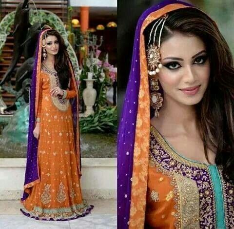 Pakistani Mehndi dress. Love how it's dofferent from the generic yellow